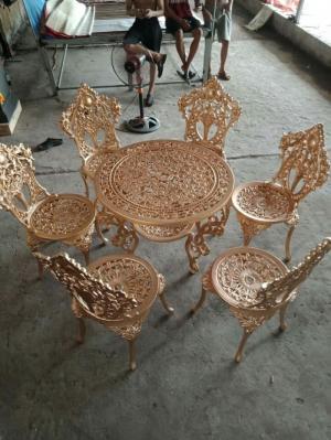Bàn ghế cafe mây nhựa dùng cho cafe sân vườn giá rẻ