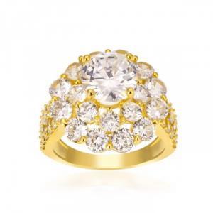Nhẫn nữ đính xoàn mạ vàng