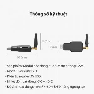 Module báo động qua sim điện thoại GSM Geeklink GI-1
