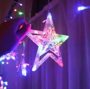 Đèn Led Trang Trí Noel 12 Sao Nhiều Màu - MSN1831119