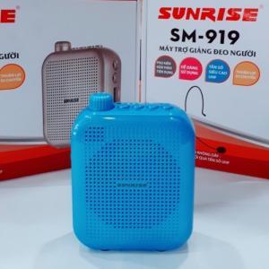 Máy trợ giảng đeo vai Sunrise SM 919 USB bluetooth kèm micro không dây