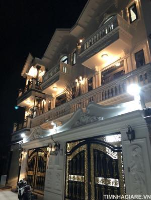 Bán nhà biệt thự hẻm 2177 Huỳnh Tấn Phát, Nhà Bè, DT 5.3m x 12m, 2 lầu, sân thượng, tặng nhiều nội thất