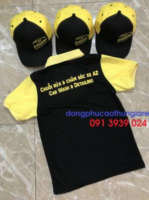 In áo thun cho gara xe, áo thun đồng phục cho nhân viên chăm sóc xe giá rẻ