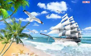 Tranh gạch phong thủy tài lộc