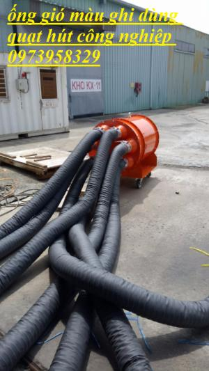 Ống gió mềm vải màu cam - ống gió màu ghi -ống gió nhôm - cách nhiệt - gió bụi - khí nóng