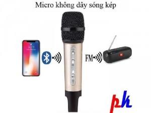 Micro karaoke không dây cho ô tô, xe hơi