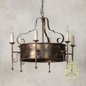 Đèn chùm sắt cổ điển Châu Âu sang trọng
