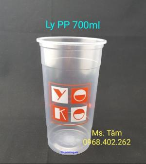 Ly PP 700ml in 2 màu cao cấp