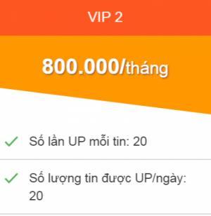 Đẩy tin bán hàng Online 20 tin/ ngày, 1 tin 20 lần dùng dịch Vụ VIP 2  phí 800.000đ/ tháng Gói 3 tháng tặng 3 tháng