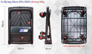 Xe đẩy hàng sàn nhựa 300kg, 600kg giá tốt tại Hà Nội