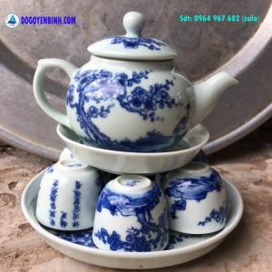 Bộ ấm chén mai hạc uống trà và làm quà biếu ý...