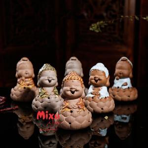 Lư Đốt Trầm Phật Tổ/Quan Âm 11.5cm