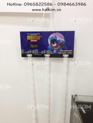 Hải Kim chuyên cung cấp bảng treo quảng cáo, bảng treo sản phẩm bồi giấy cứng, hanger tại Hà Nội, giao hàng toàn quốc