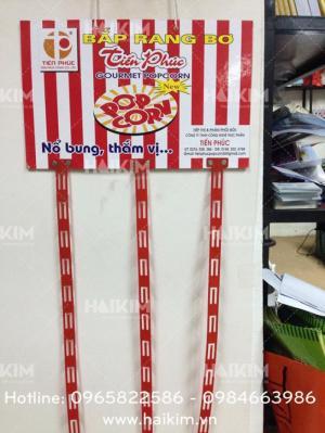 Chuyên cung cấp hanger dây nhựa quảng cáo snack