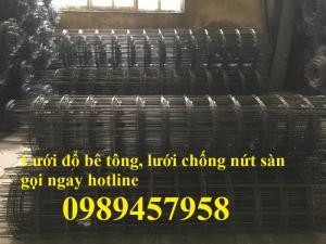 Lưới đổ sàn bê tông phi 4, lưới thép hàn phi 4 làm sàn chống nứt, lưới đổ sàn phi 4 giá rẻ nhất tại Hà Nội