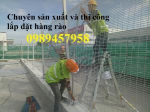 Nhận thi công lắp đặt hàng rào mạ kẽm điện phân phi 4, phi 5 ô 50x100, 50x150, 50x200, hàng rào mạ nhúng nóng tại Vĩnh Phúc