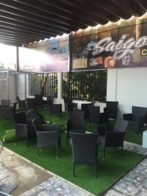 Bàn ghế cafe nhựa giả mây hàng công ty thanh lý tại TPHCM