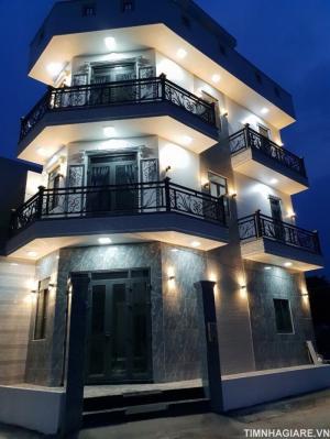 Bán nhà góc 2 mặt tiền KDC Sài Gòn Mới đường Huỳnh Tấn Phát, Thị Trấn Nhà Bè, 3 lầu đúc