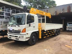 Xe tải Hino 16 tấn gắn cẩu Unic 5 tấn