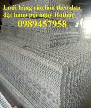 Sản xuất lưới thép hàn phi 6 đổ bê tông 100x100, 150x150, 200x200, lưới hàn chập phi 6 làm hàng rào