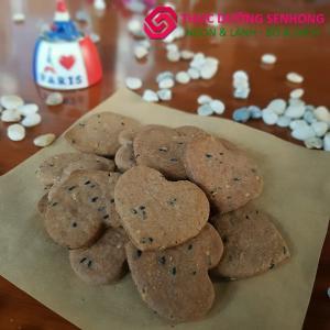 Bánh quy gạo lứt muối mè (500gr) Thực dưỡng Sen Hồng
