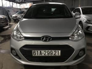 Bán Hyundai i10 1.0MT màu bạc số sàn nhập Ấn Độ 2015 bản 5 cửa gia đình xe chạy 38000km
