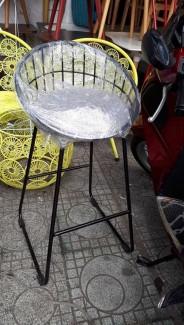 Ghế caafe chân sắt và khung sắt