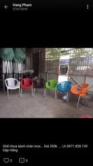 Các mẫu ghế nhựa nhìu màu giá rẻ