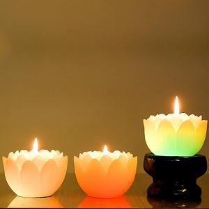 Nến Hoa Sen -Led - Thắp sáng 7 màu