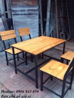 Bán bộ bàn ghế gỗ chân cao cho quán ăn