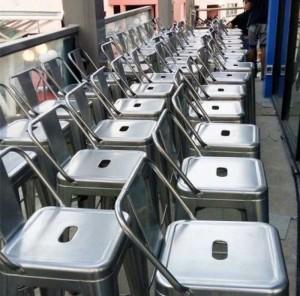 Thanh lý lô ghế nhôm giá rẻ