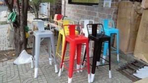 Một số mẫu ghế nhựa chân cao nhìu màu sắc