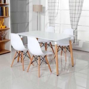 Thanh lý bàn ghế nhựa màu trắng cho quán trà sữa
