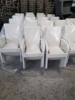 Ghế nhựa giả mây màu trắng cao cấp mới 100%
