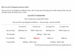 Cua sốt ớt Singapore