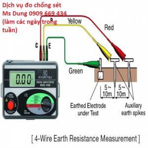 Dịch vụ đo chống sét, đo điện trở nối đất, đo chống sét, đơn vị đo chống sét
