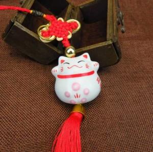 Dây Treo Mèo Thần Tài Sứ - MSN1831038