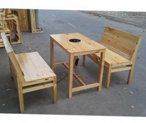 Bàn ghế gỗ kinh doanh quán BBQ