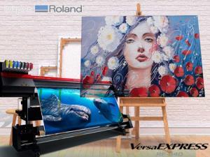 Máy in tranh canvas, giấy dán tường, decal pp khổ lớn cao cấp - Roland RF640, EJ640