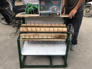 Máy tuốt lúa nếp sử dụng mô tơ Toàn Phát