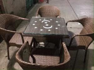 Bộ bàn ghế nhựa mây QTR02