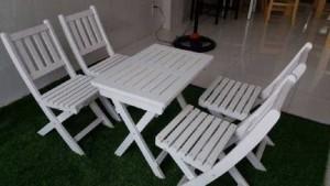 Bàn ghế gỗ xếp MTTO3