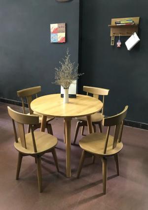Bộ bàn tròn 4 ghế xoay