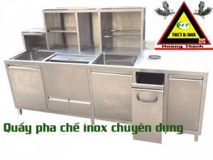 Quầy bar, quầy pha chế inox sus 304 - Hoàng Thịnh