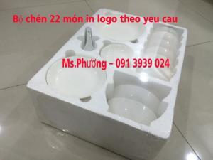 Cung cấp chén sứ trắng quà tặng, đặt chén sứ in logo tặng khách hàng
