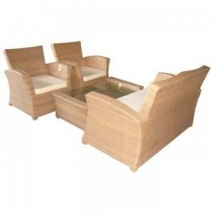 Bàn ghế sofa nhựa giả mây màu nâu,giao hàng toàn quốc