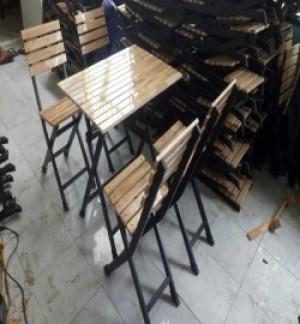 Cần thanh lý gấp lô bàn ghế gỗ xếp giá rẻ
