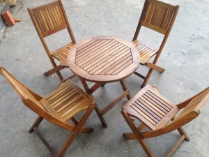 Bộ ghế gỗ xếp NVB02