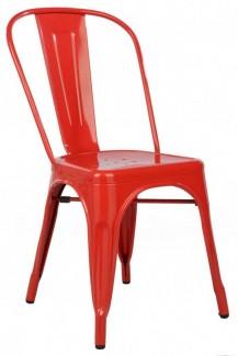 Ghế nhựa màu đỏ
