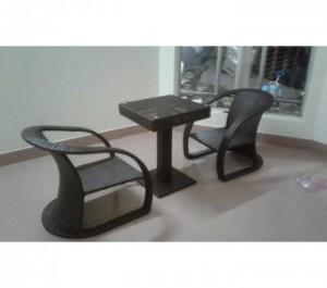 Bộ bàn ghế mây nhựa,1 bàn +2 ghế